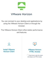 VMware client or HTML image