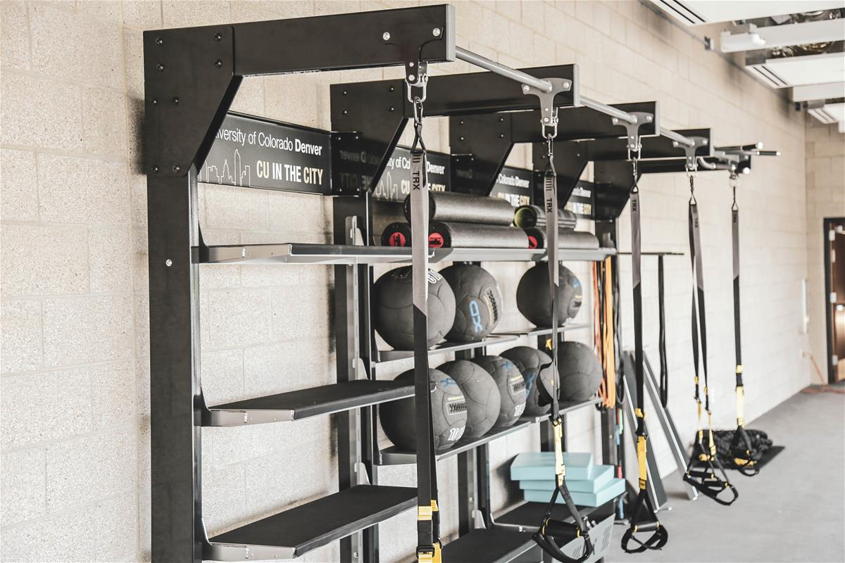 Movement Loft with medicine balls and TRX station