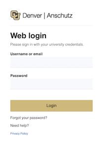 screenshot of ucdaccess login page