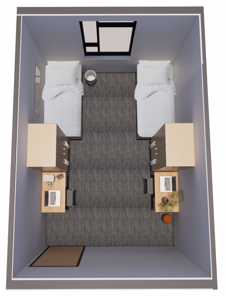 Double Room Rendered Plan Final
