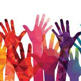 Colorful Hands in the Air