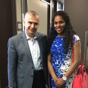 Adapa with Professor Jahangir Karimi