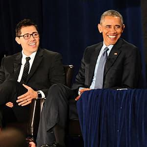 Justin Luke Riley with President Barack Obama