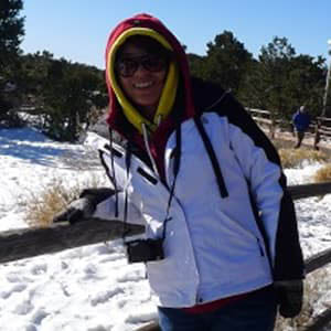 Lingguang Li in snow gear