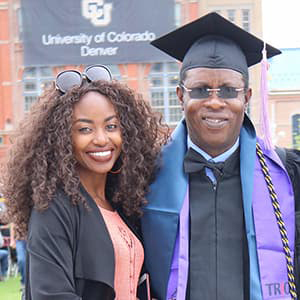 Lolo Tisseglo at Commencement