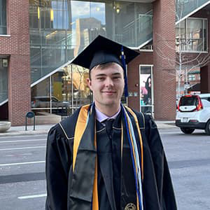 Michael Greenlee in Commencement Regalia