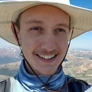 Sean Hansen Selfie from Hiking