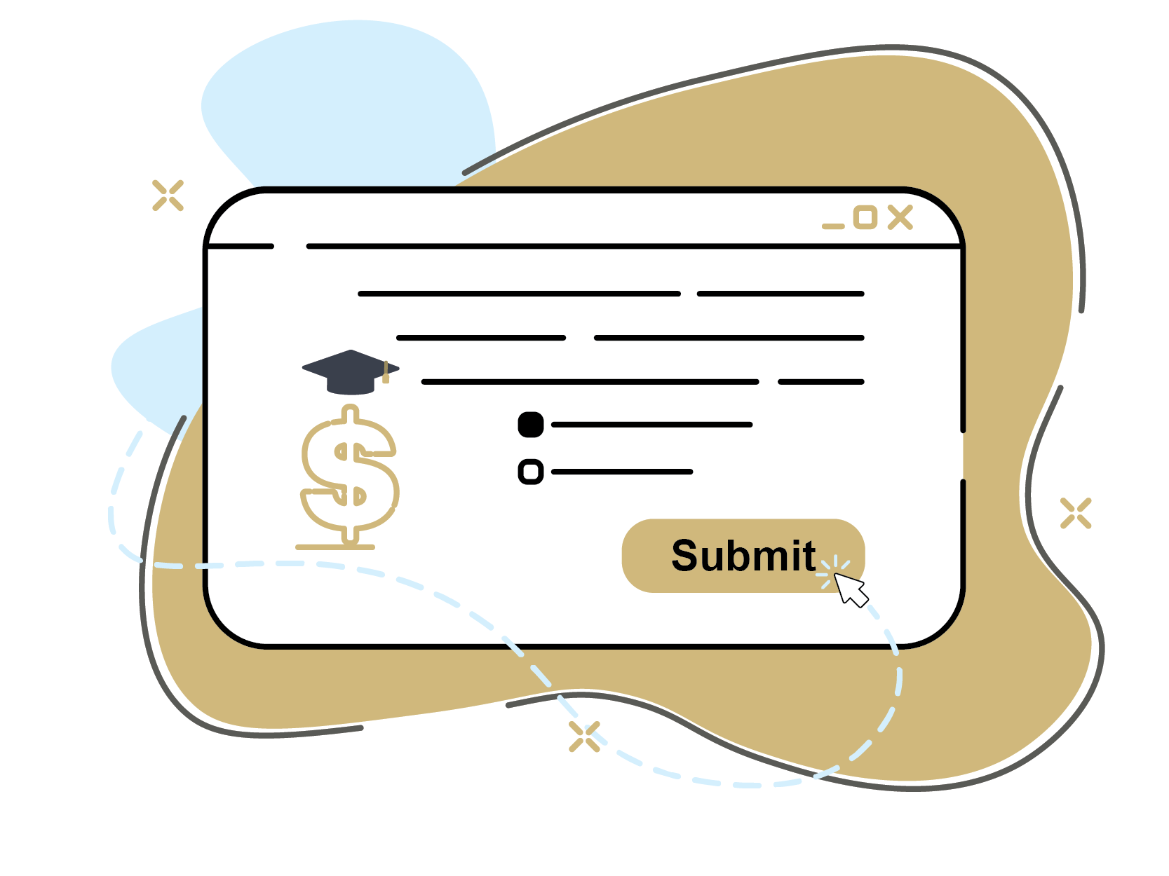 Illustration of a submission scren