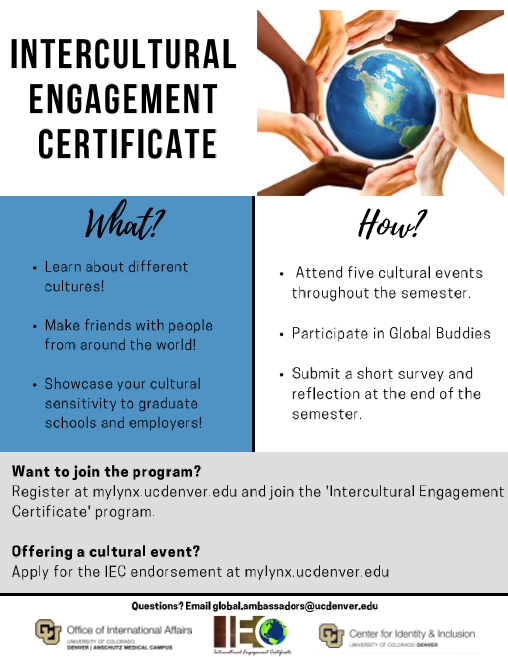 Intercultural Engagement Certificate Promotional Flyer