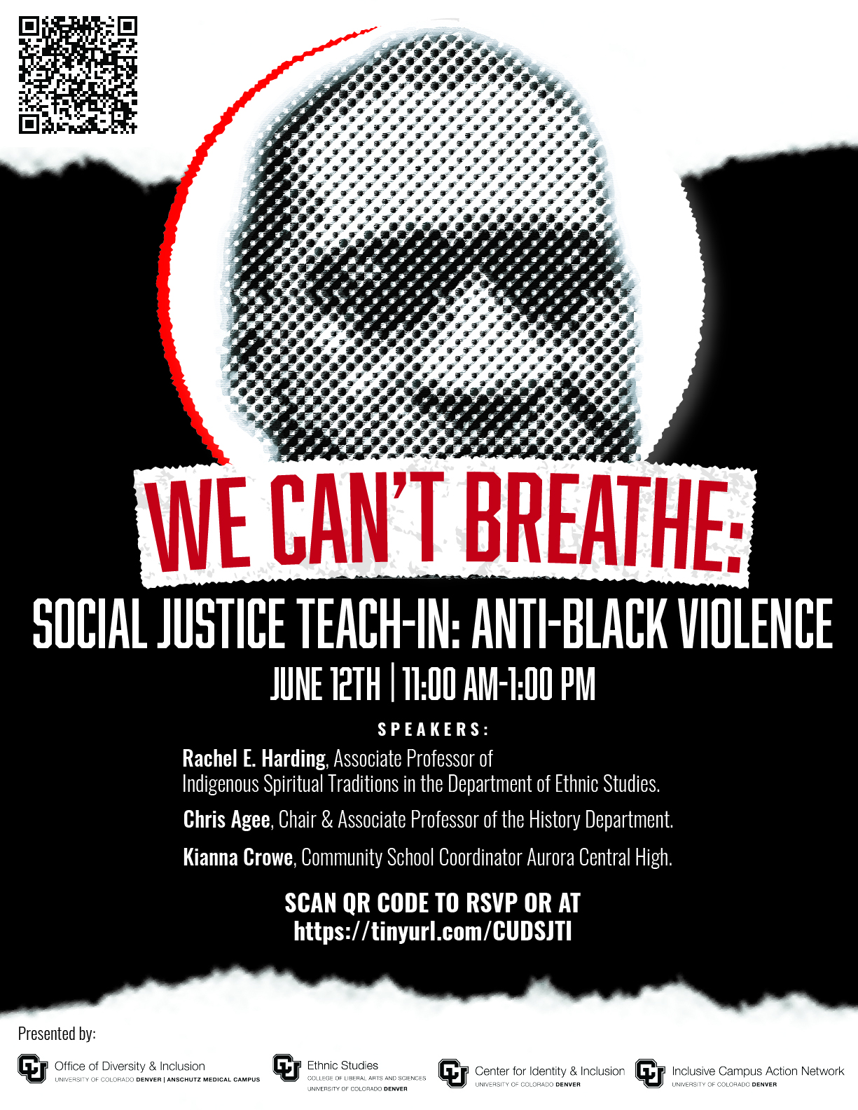We Can't Breathe: Social Justice Teach-In: Anti-Black Violence