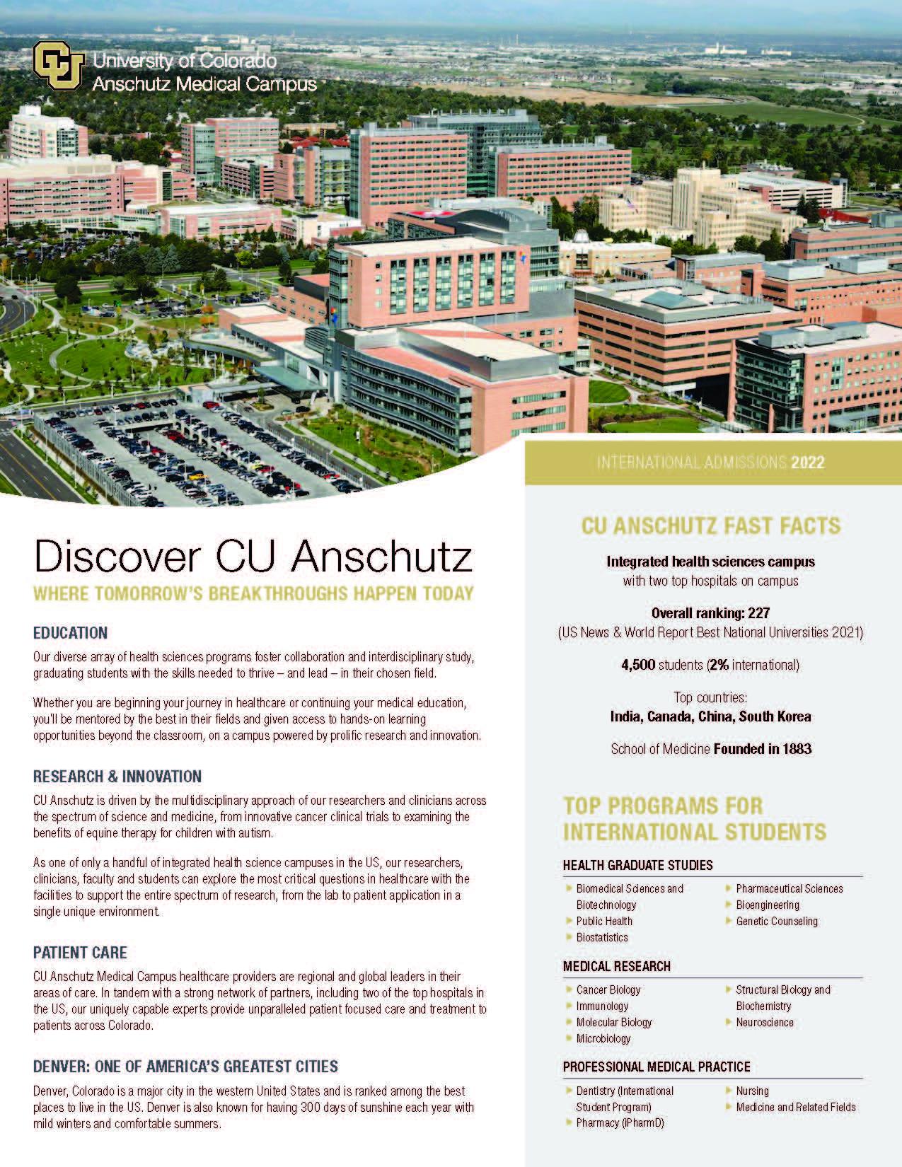 Discover CU Anschutz