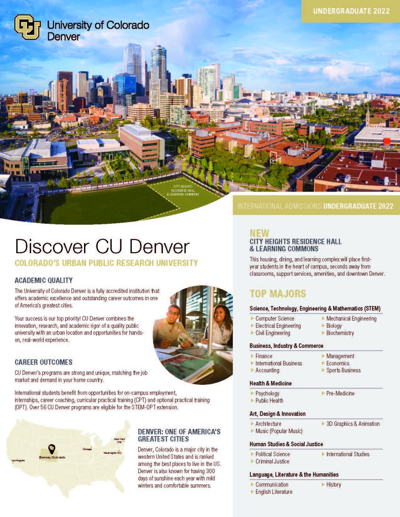 Discover CU Denver (Undergraduates)