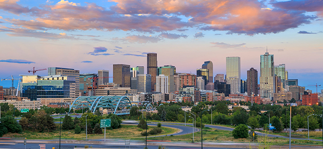 Denver panoramic late afternoon