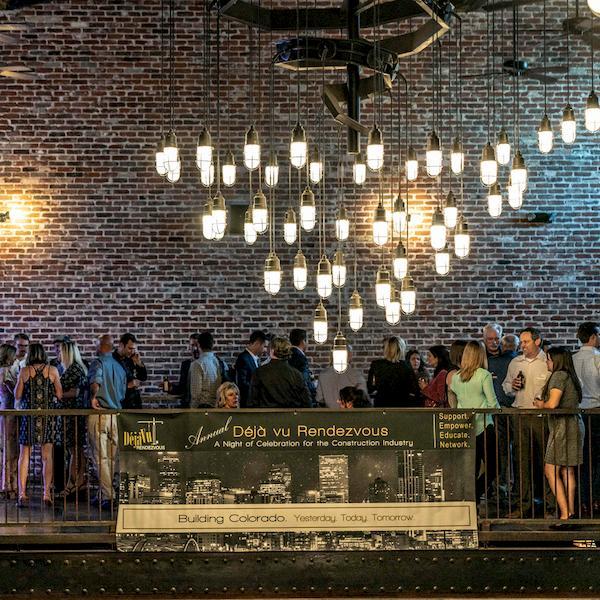 guests mingle at C I D E annual dejavu event
