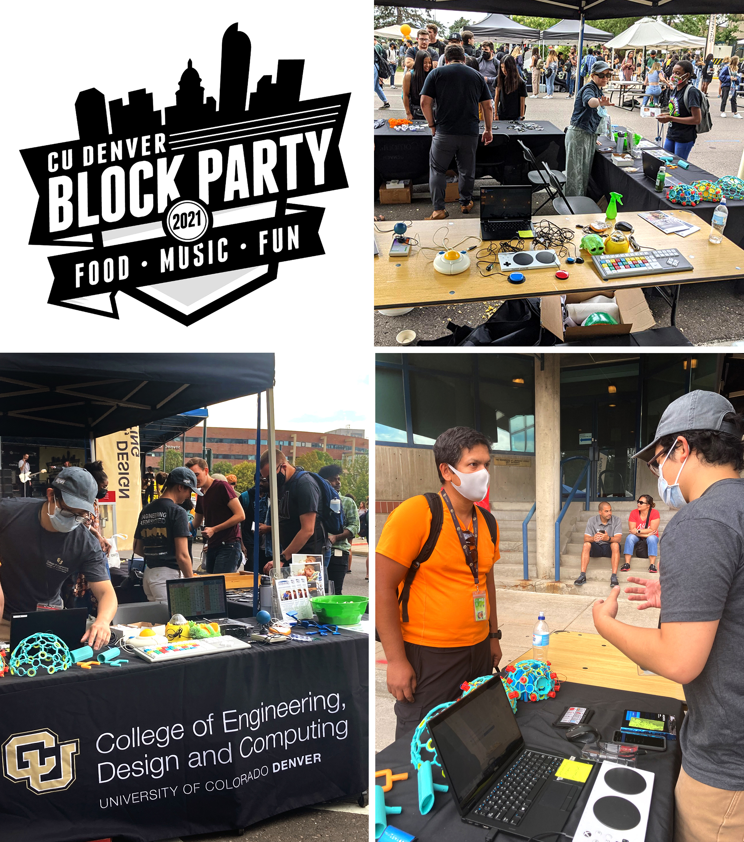 An image of the CIDE table at the 2021 CU Denver Block Party